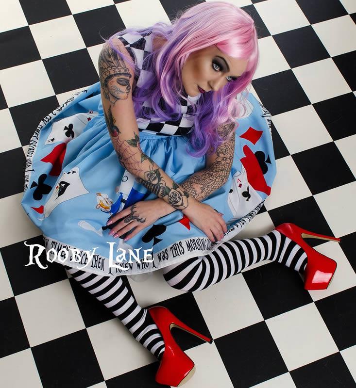 Alice in Wonderland Wedding Dress Image - Rooby Lane