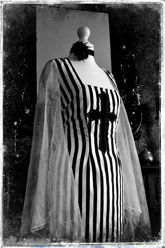 Creepy Spooky Mistress Frankenstein Gothic Gown - House of Goth