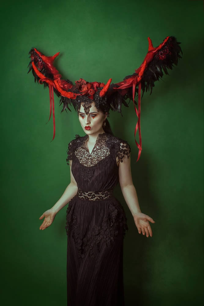Grecian Style Goth Dress Image - The Last Kult
