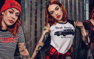 Sinner and Dead Inside Tshirts - Attitude Clothing