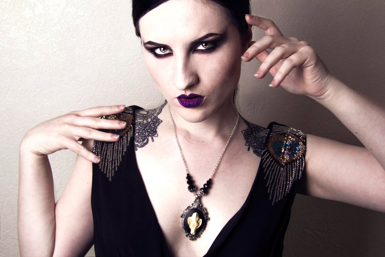 Wolf Skull Necklace Animal Skull Jewellery Image - The Last Kult