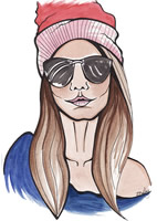 Womens Quirky Shops Illustration by Lisa Bailey