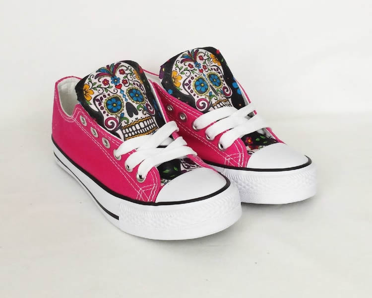 Day of the Dead Shoes - Custom Sugar Skull Pumps - Rock Your Sole