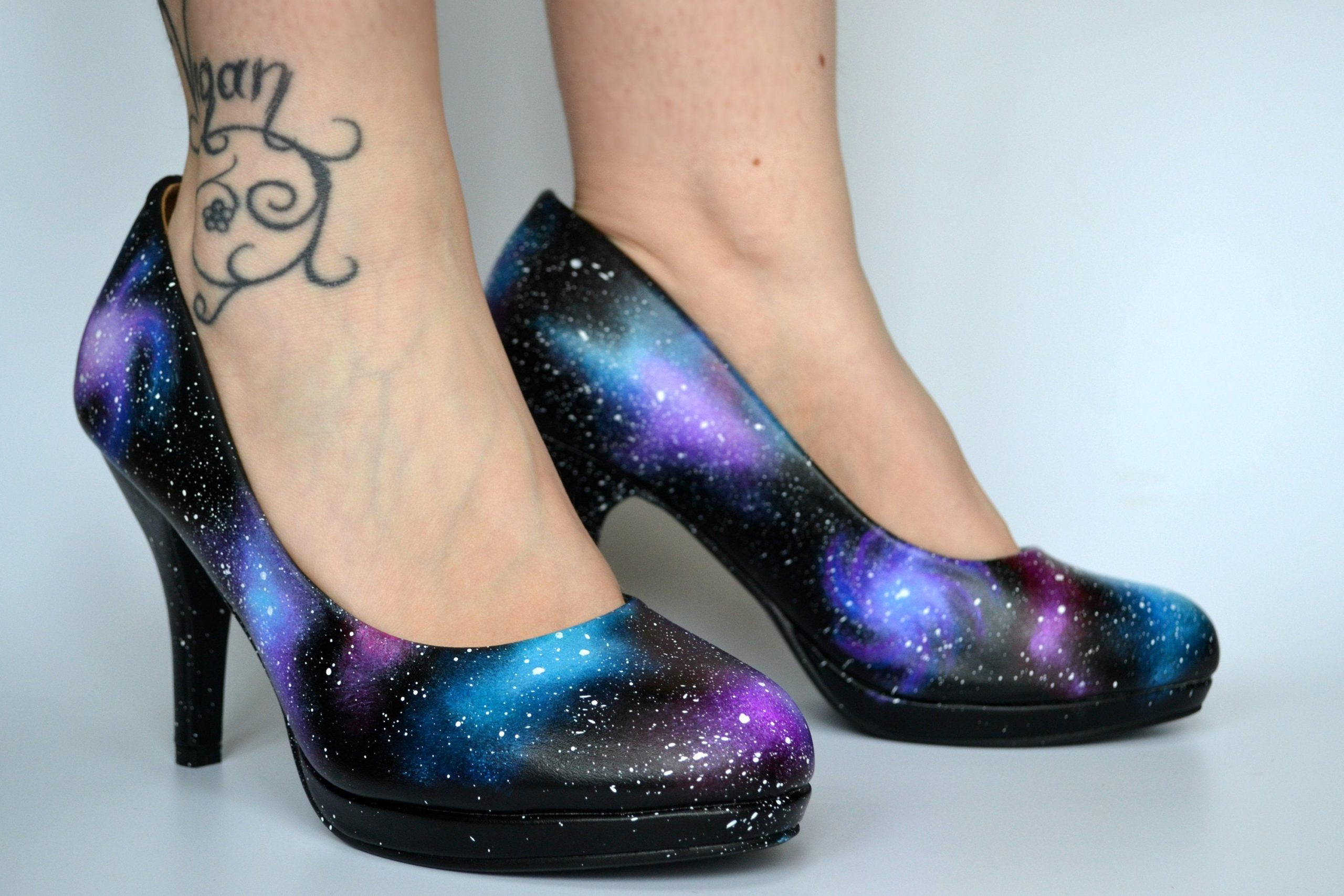 Galaxy Stilettos Women's Heels - She Talks To Rainbows