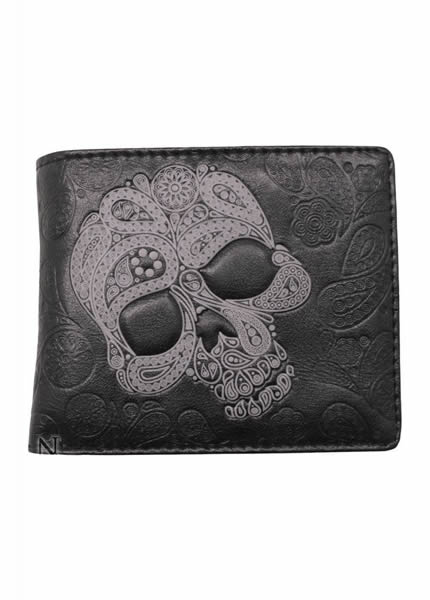 Nemesis Mens Wallet Skull Design - Attitude Clothing Image