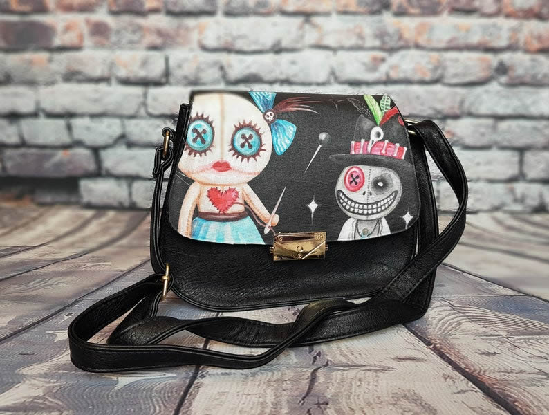 Voodoo Doll Bag - Spooky Gothic Bag - rock your sole