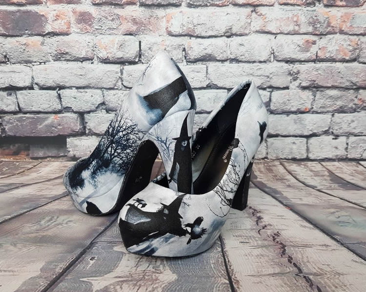 Witch Heels Halloween Shoes - Alternative Bride - rock your sole