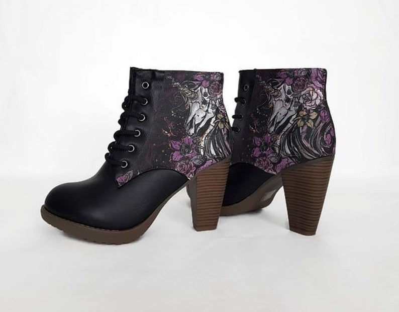 Womens Boots Unicorn Steampunk Alternative - rock your sole