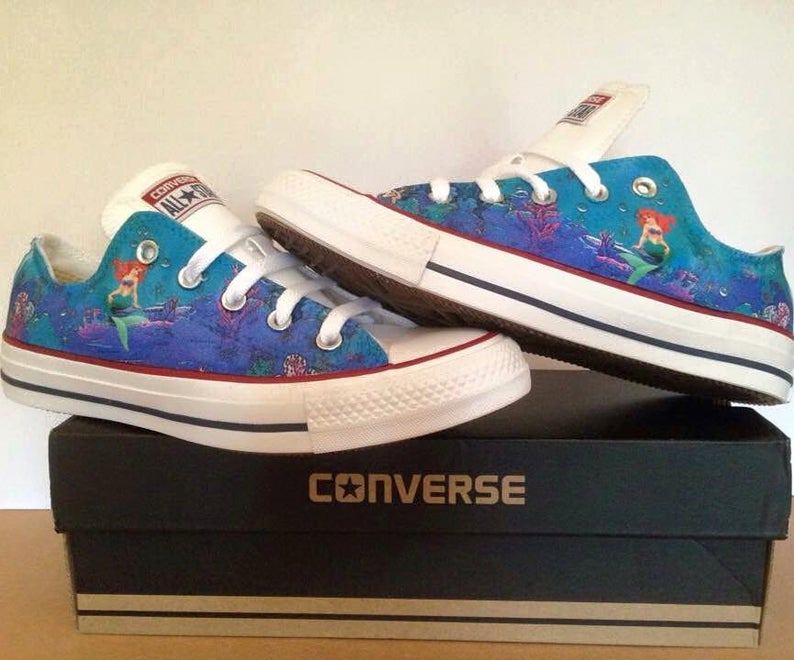 little mermaid converse low top - Shoe2kill