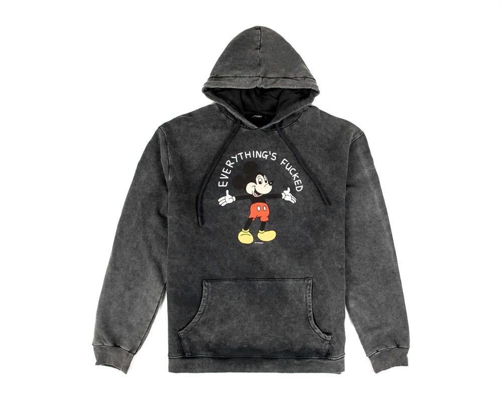Everythings fked mens sweatshirt image - Disturbia