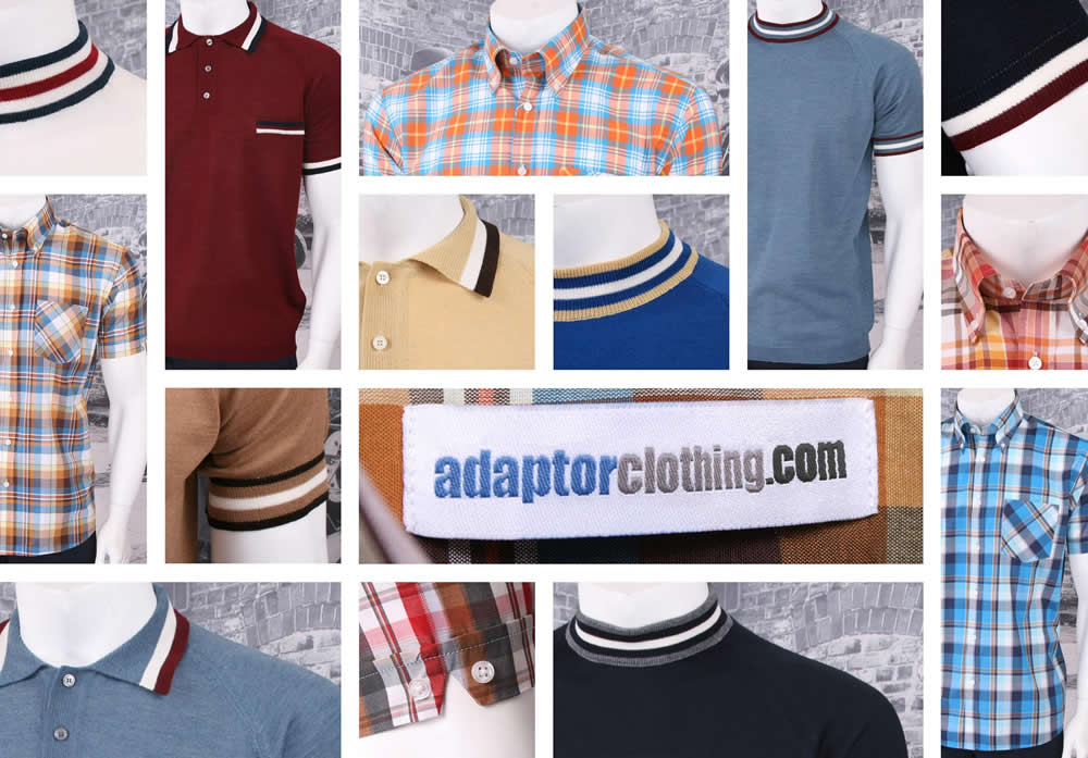 Adapter Clothing Mod and Retro Fashions Banner