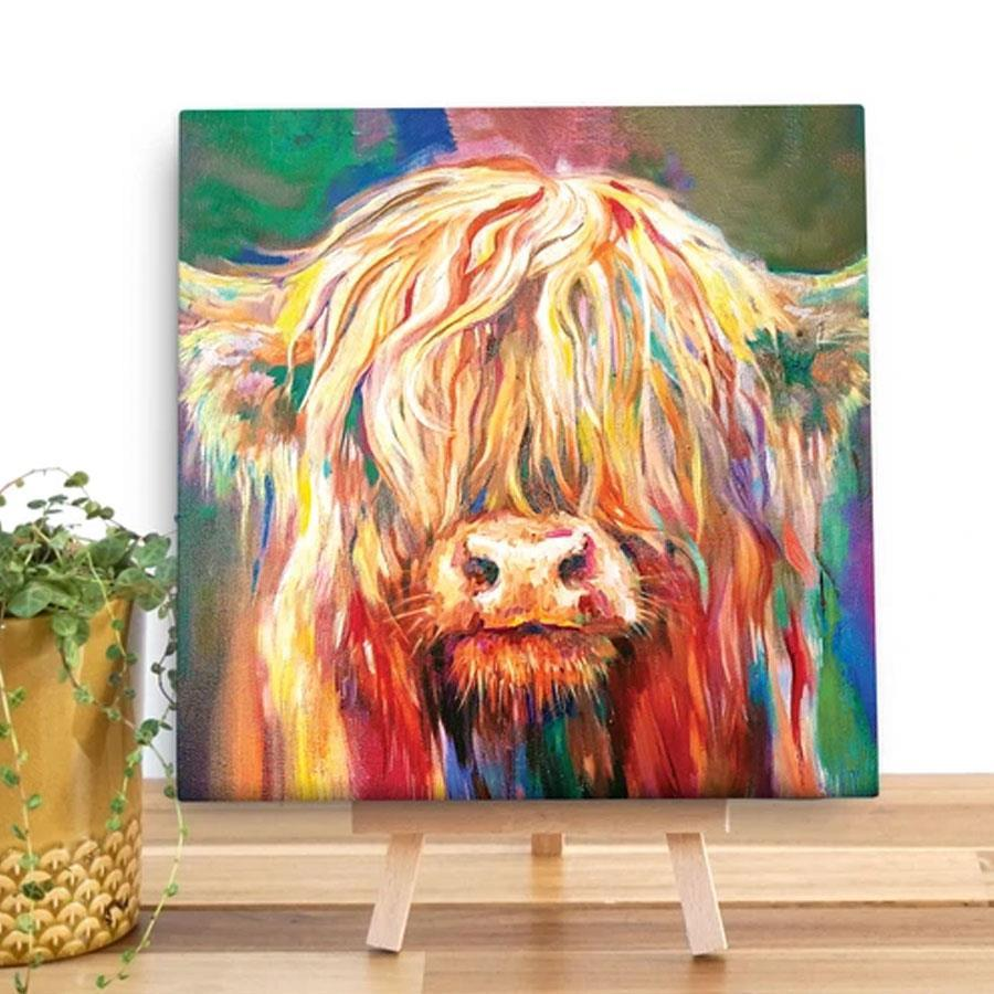 Baby Highland Vow Canvas Art Print -Maiagifts