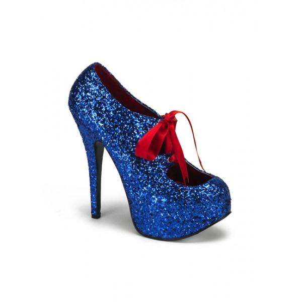 Blue Glitter High Heels - Love Burlesque