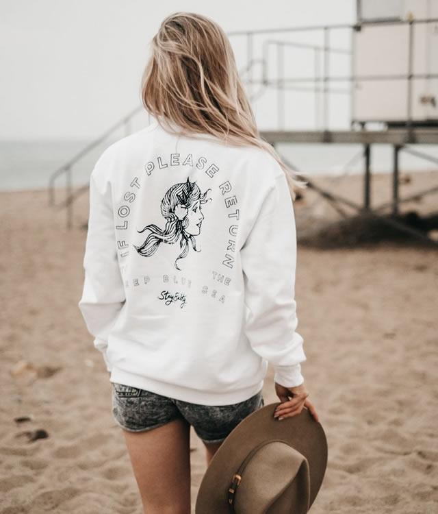 Deep Blue Sea Sweatshirt - Art Disco