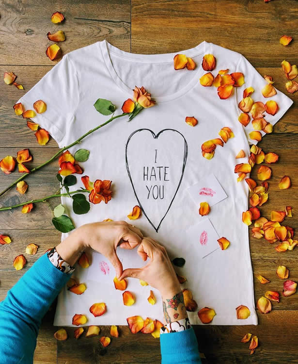 I Hate You Scoop Tee - Dont Fed The Bears