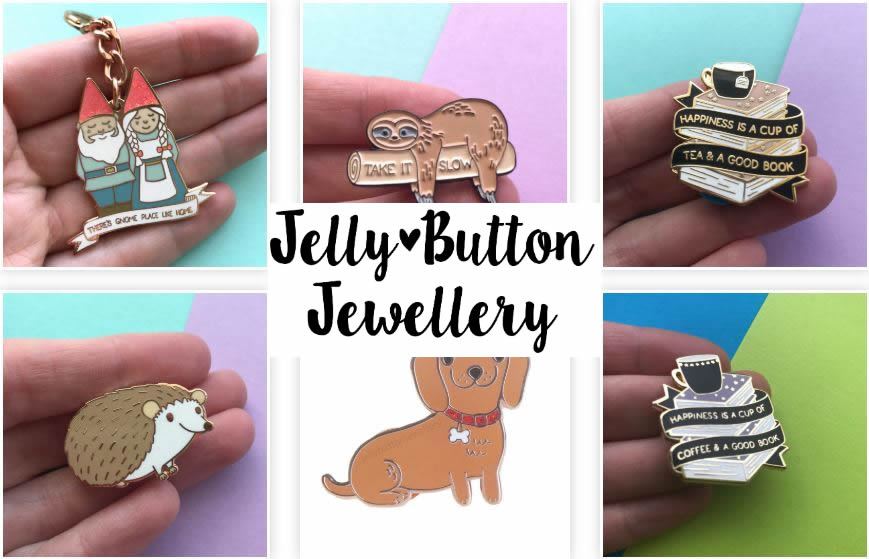 Jelly Button for Quirky Jewellery and Booches