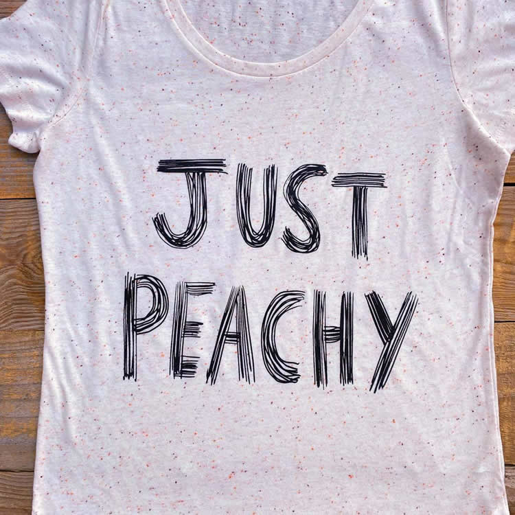 Just Peachy Womens Tee - Dont Feed The Bears
