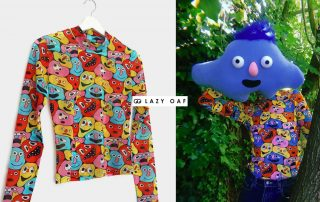 Lazy Oaf X Becky Sloan Printed Mesh Top