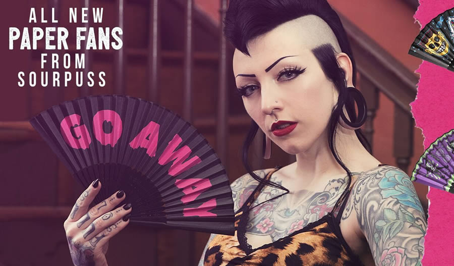 Paper Fans by Sourpuss Clothing
