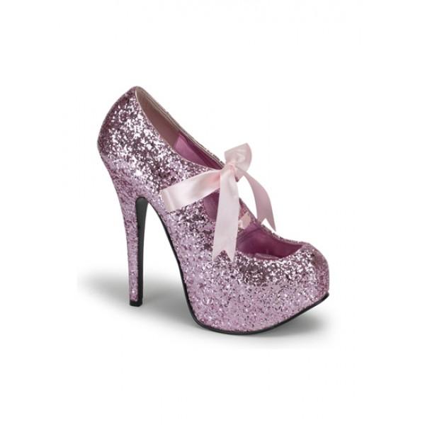 Pink Glitter High Heel Burlesque - Love Burlesque