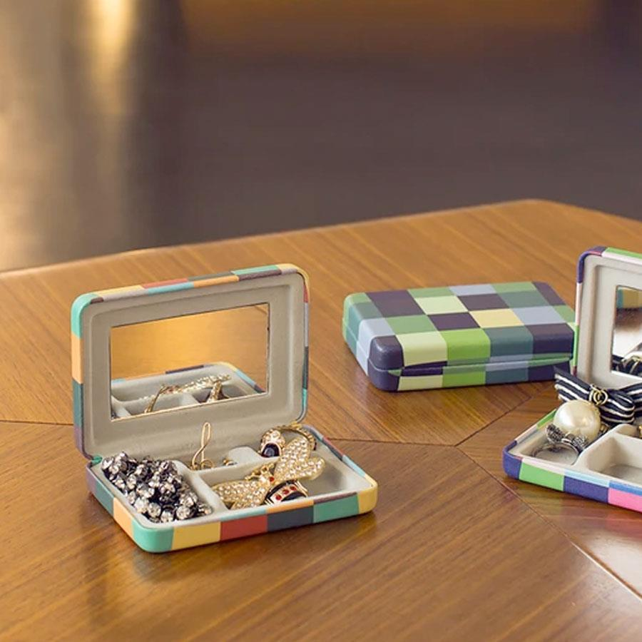 Plaid Portable Jewellery Case - Maiagifts
