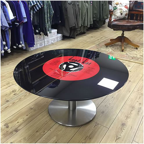 Single Leg Coffe Table Vinyl Record - Its a mod thing
