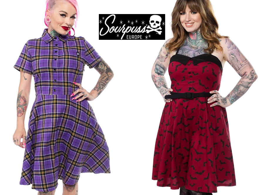 Sourpuss Alternative and Punk fashions Banner