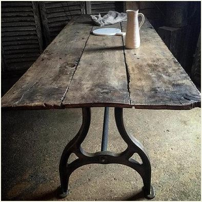 18th Century Oak Plank Topped Table - Quirky Interiors