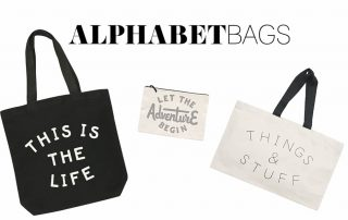Alphabet Bags Womens Accessories Banner