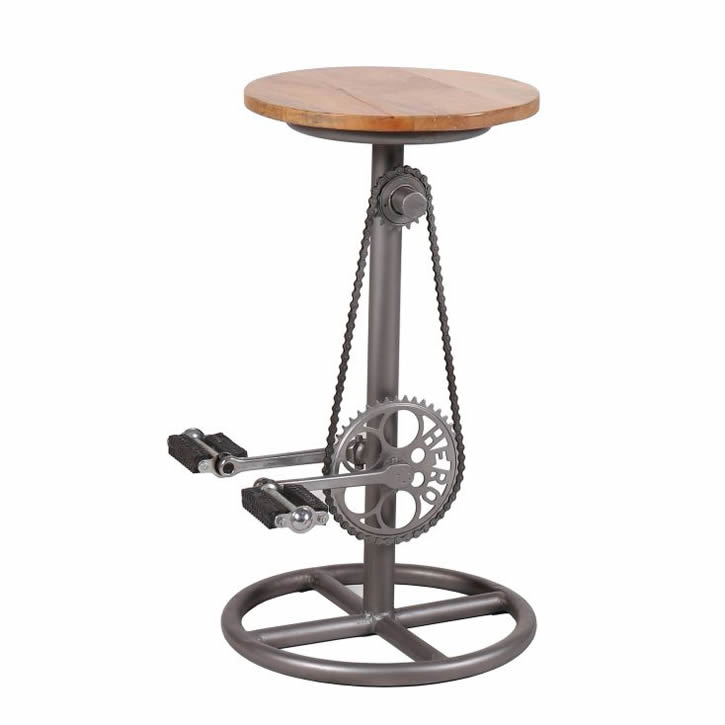Bicycle Seat Bar Stool with Pedals - Smithers of Stamford