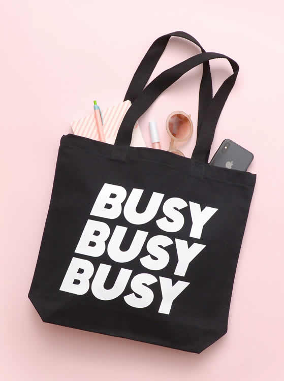 Busy Busy Busy Tote Bag - Alphabet Bags