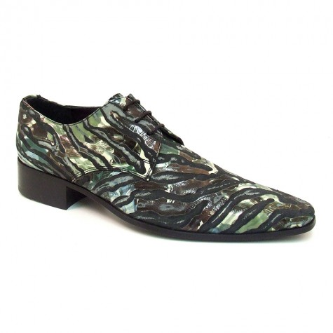 Cam Green Tiger Derby Shoe - Gucinari