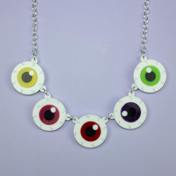 Eyeball Necklace Image - Sour Cherry