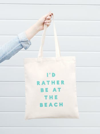 Id Rather be at the Beach Tote - Alphabet Bags