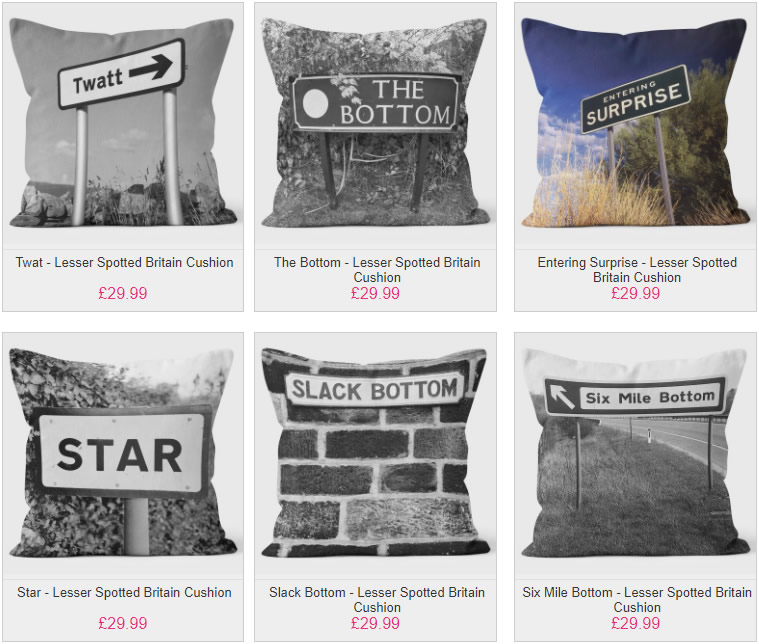 Lessor Spotted Britain Fun Cushions - We Love Cushions