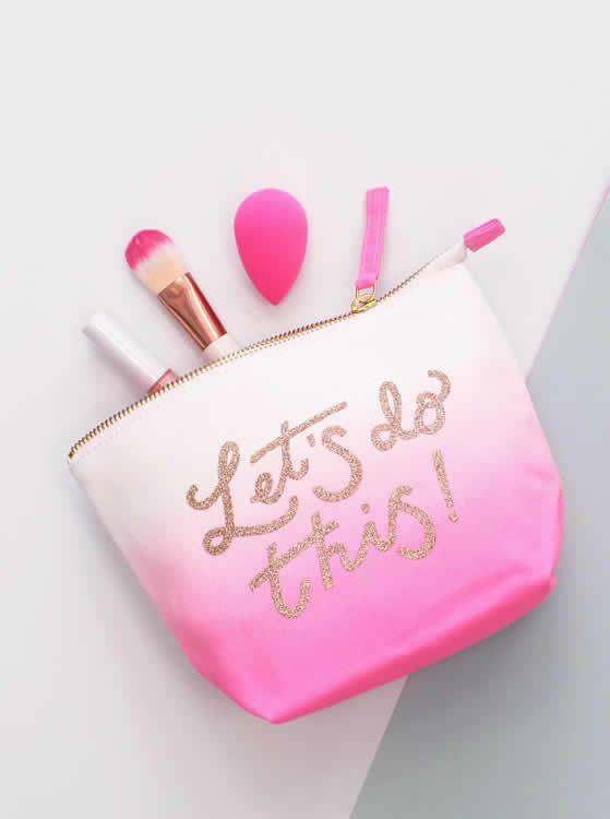 Lets Do This Makeup Bag - Alphabet Bags