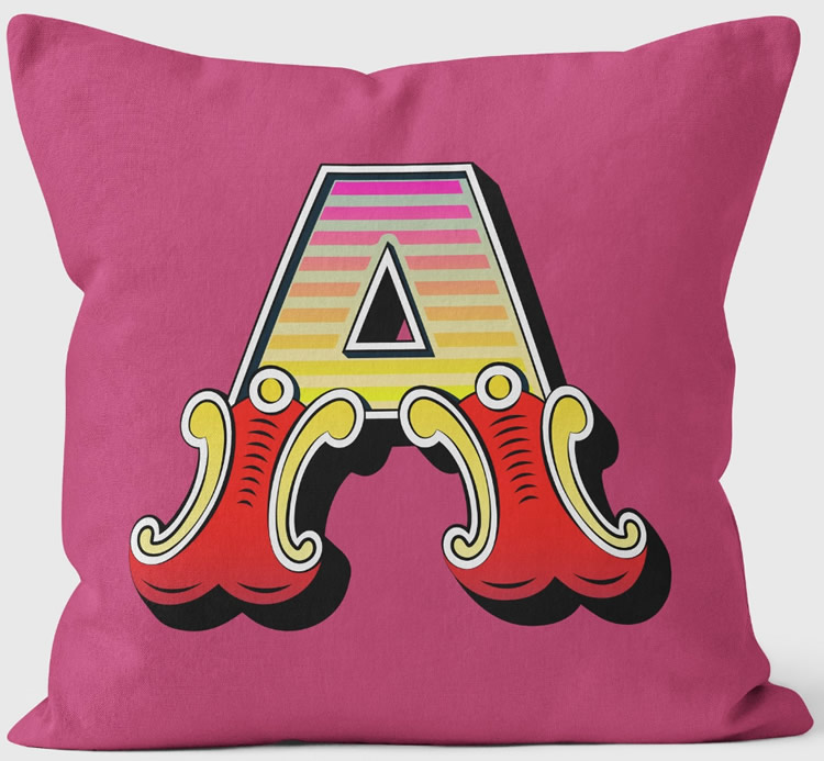 Letters and Numbers Cushions - We Love Cushions