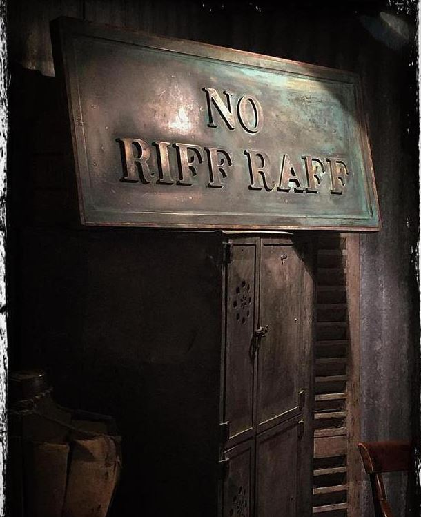 No Riff Raff Sign in Brass - Quirky Interiors