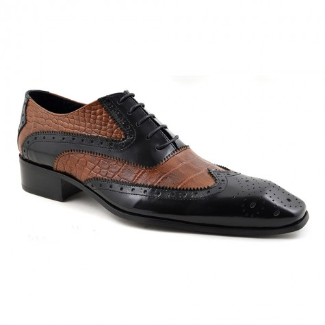 Otis Black Brown 2 Tone Oxford Brogues - Gucinari
