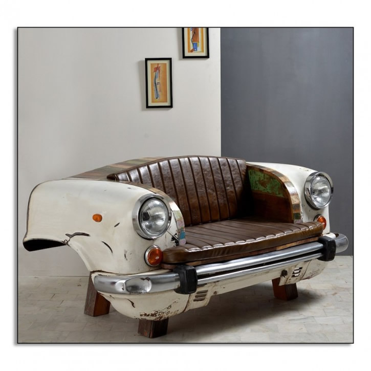 Recycled Frame from old Car - Sofa - Smithers of Stamford