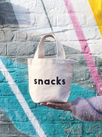 Snacks Little Canvas Bag - Alphabet Bags
