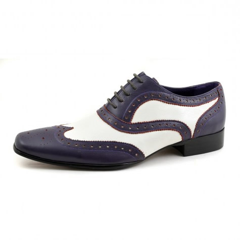 Torro Purple White Oxford 2 Tone Brogues - Gucinari