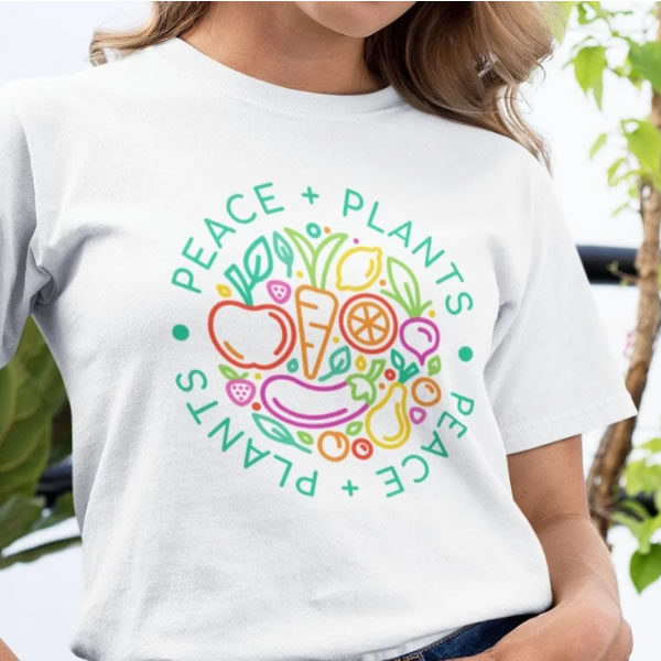 Peace Plants - Organic Cotton T-Shirt - Kind Clothing