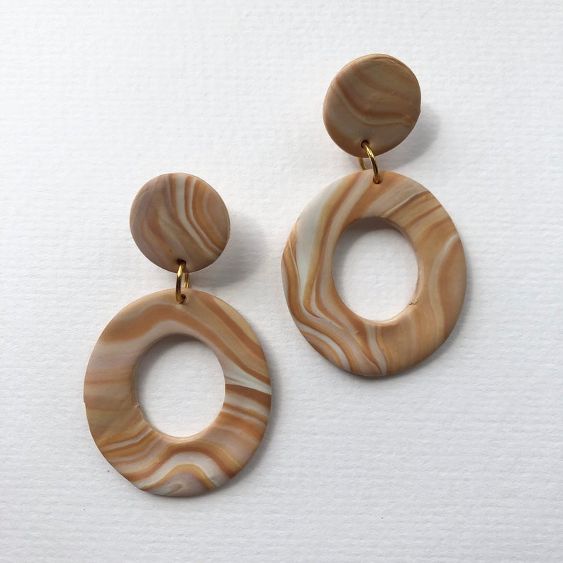 Sandstone Polymer Clay Earrings - Sundaze Jewellery