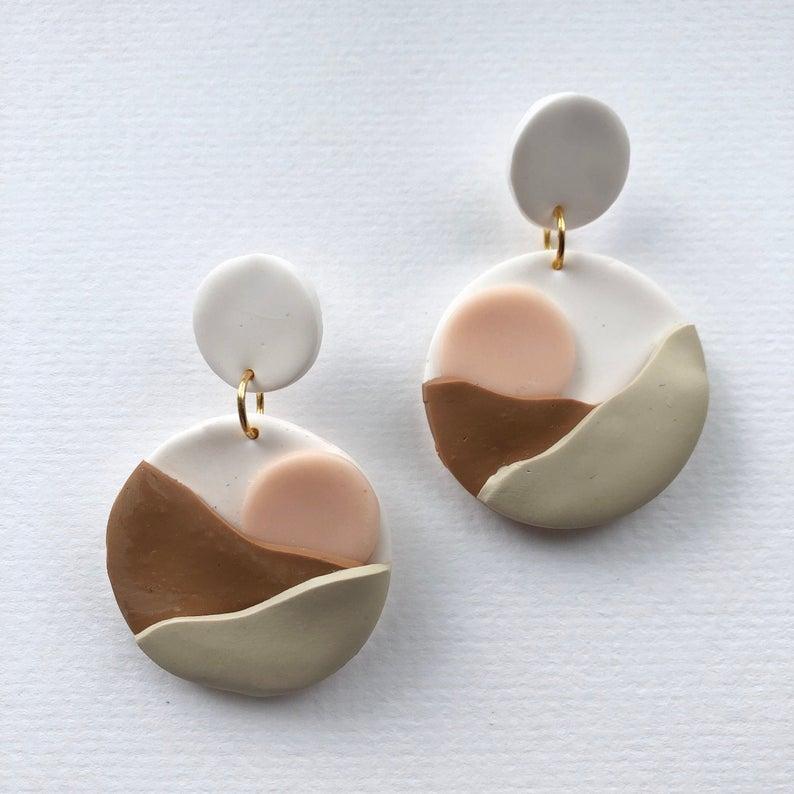 Zara Desert Sun Polymer Clay Earrings - Sundaze Jewellery