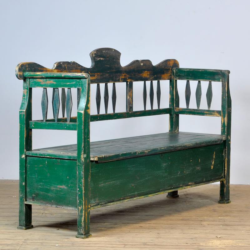 antique box bench - Vinterior