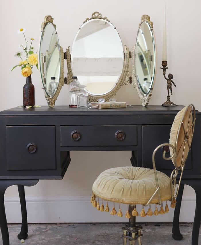 freestanding vintage dressing table mirror - Vinterior