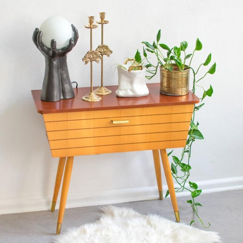 mid century cabinet table - Vinterior