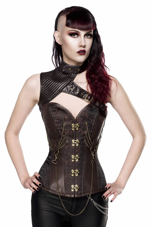 Corset with shoulder section Steampunk - EMP