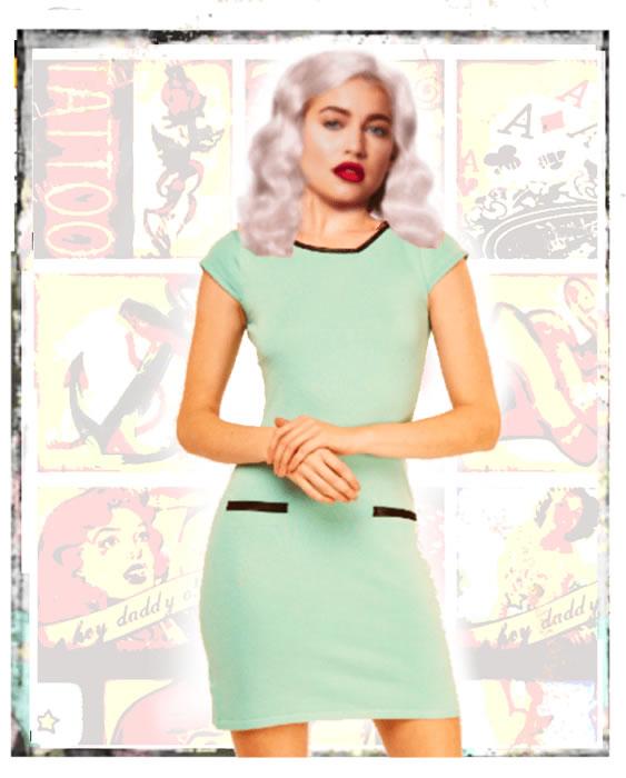Beautiful 1950s green dress - Fifis Rockabilly Boutique